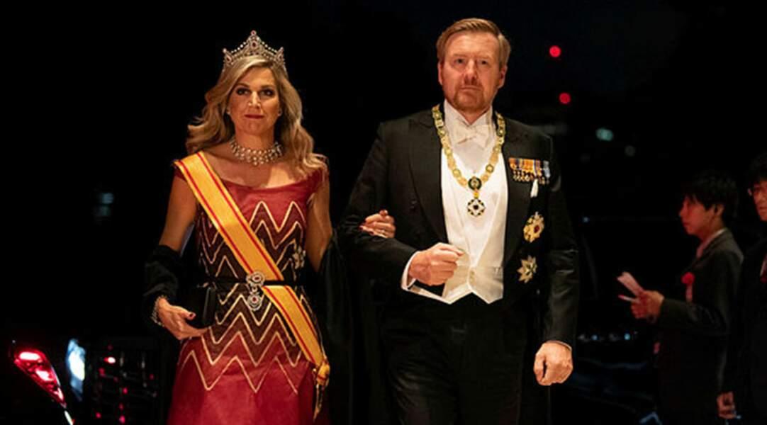 Les souverains néerlandais à leur arrivée au palais impérial