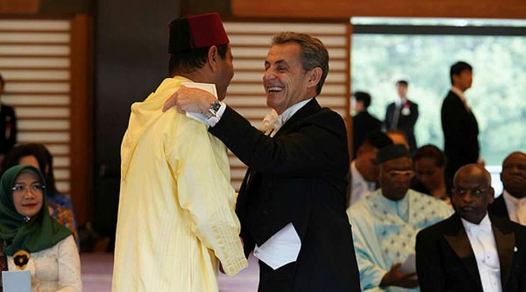 Nicolas Sarkozy, venue sans son épouse Carla, représentait la France