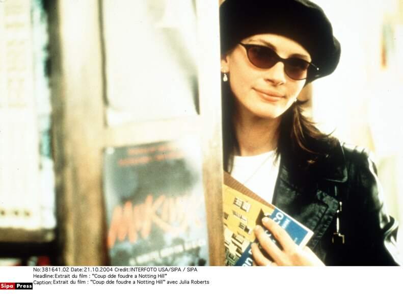 Elle joue avec son image dans Coup de foudre à Notting Hill (1999)