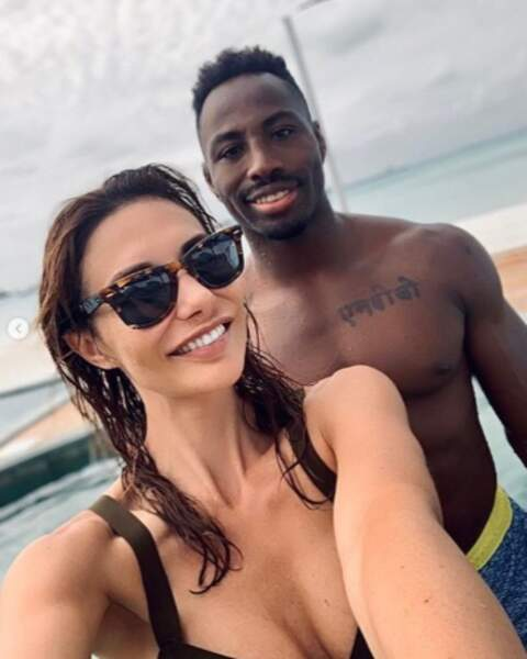 Selfie en amoureux pour Ariane Brodier et Fulgence Ouedraogo.