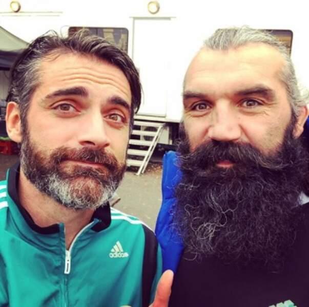 Deux barbus réunis : Gil Alma et Sébastien Chabal.
