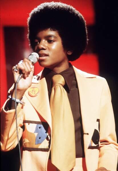 Michael Jackson en 1974, âgé de seize ans