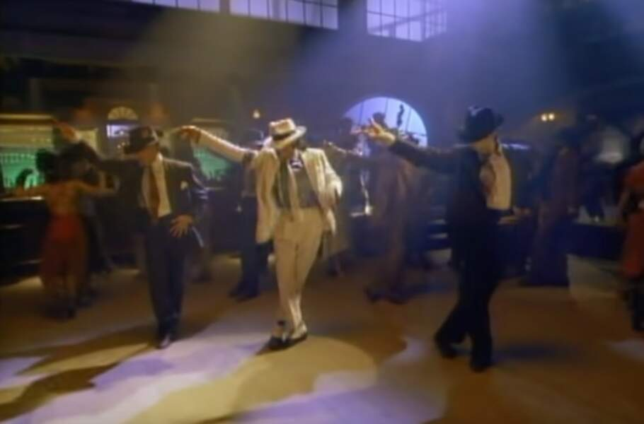 "Michael dans le clip de ""Smooth Criminal"", en 1988"