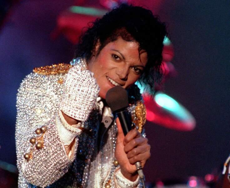 Michael et son fameux gant en 1984