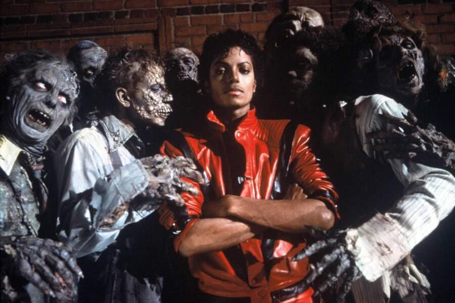 """Iconique, Michael en 1984 dans son légendaire blouson du clip de """"Thriller"""""""
