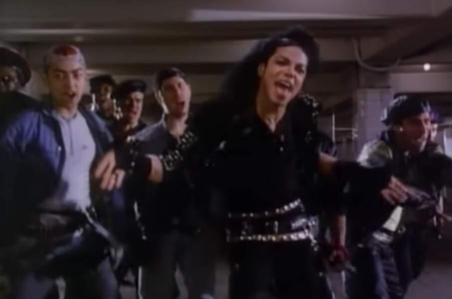 """Michael dans le clip de """"Bad"""", réalisé par Martin Scorsese en 1987"""