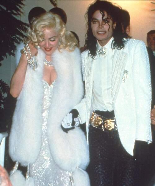 Michael en compagnie de Madonna aux Oscars, en 1991