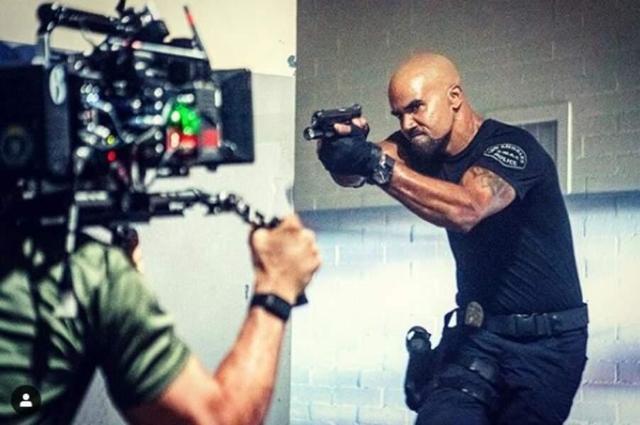 Shemar Moore, tout en testostérone en filmant la nouvelle saison de S.W.A.T.
