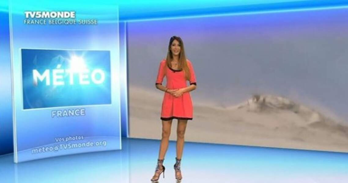 Virgilia Hess présente régulièrement la météo sur BFMTV Paris, mais également ponctuellement sur l'antenne nationale