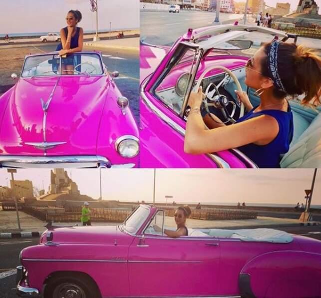 Où elle n'a pas manqué de conduire les fameuses voitures cubaines
