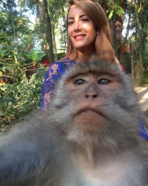 Selfie avec un copain