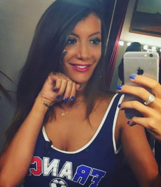 Selfie de supportrice de l'équipe de France !