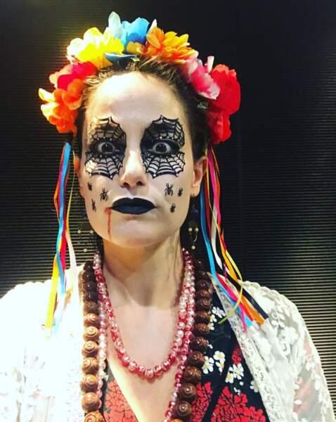 Marie Gillain, superbement maquillée pour Halloween