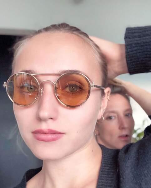 Chloé Jouannet s'est fait photobomber par sa tatie Audrey Lamy.