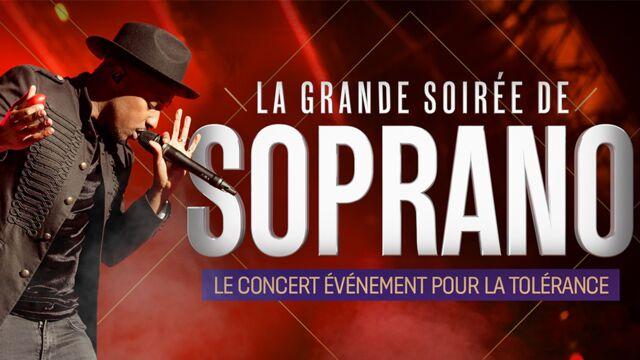 La Grande soirée de Soprano, le concert évènement pour la tolérance (W9) : la liste des invités - actu - Télé
