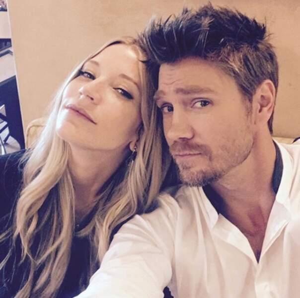 Il aime aussi prendre la pose avec sa femme Sarah Roemer