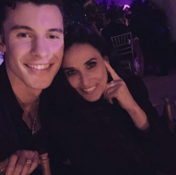 Avec le chanteur Shawn Mendes au gala du Met