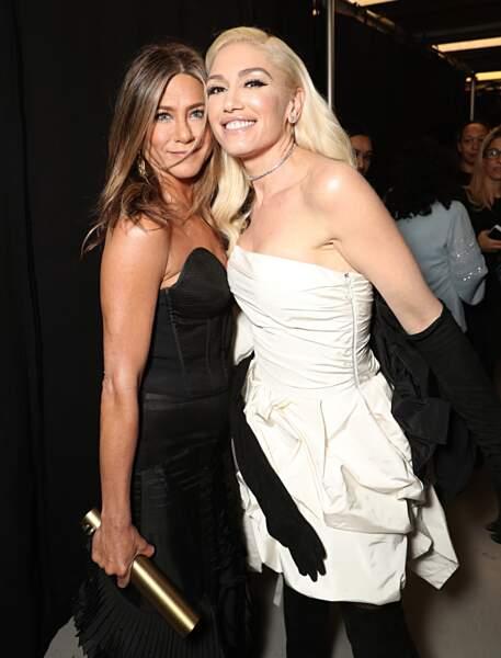 Jennifer Aniston et Gwen Stefani au E! People's Choice Awards à Los Angeles le 10 novembre 2019