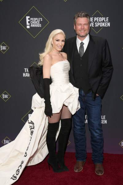 Gwen Stefani et Blake Shelton au E! People's Choice Awards à Los Angeles le 10 novembre 2019