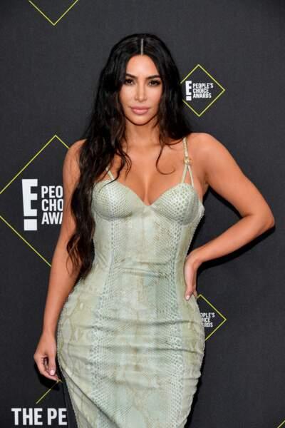 Kim Kardashian plus sexy que jamais au E! People's Choice Awards à Los Angeles le 10 novembre 2019