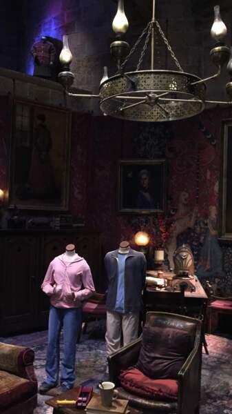 À l'étage, la salle commune de Gryffondor