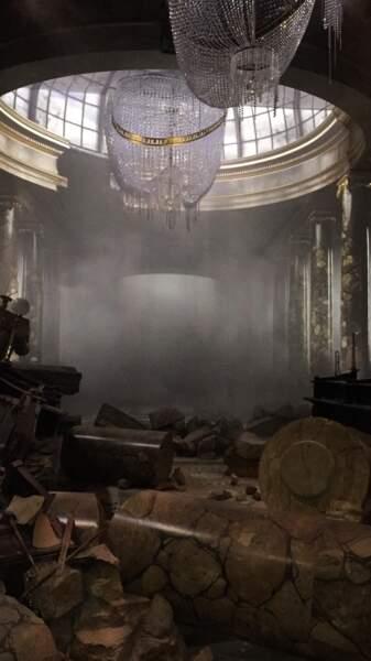 La dernière partie de la visite est… La banque Gringotts détruite !