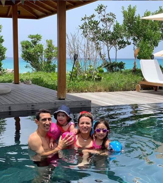 La petite famille en vacances dans les îles Turques-et-Caïques