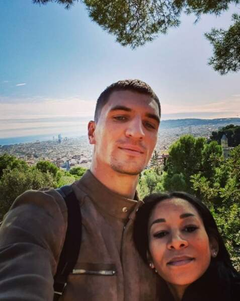 Tout aussi mignons : Thomas Meunier et sa femme Véronique, en Espagne.