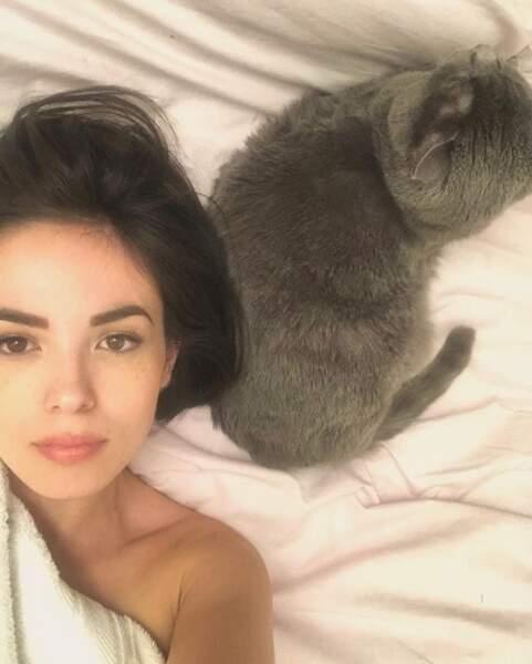 Et que vous aimez la douceur, comme ce selfie d'Agathe Auproux.
