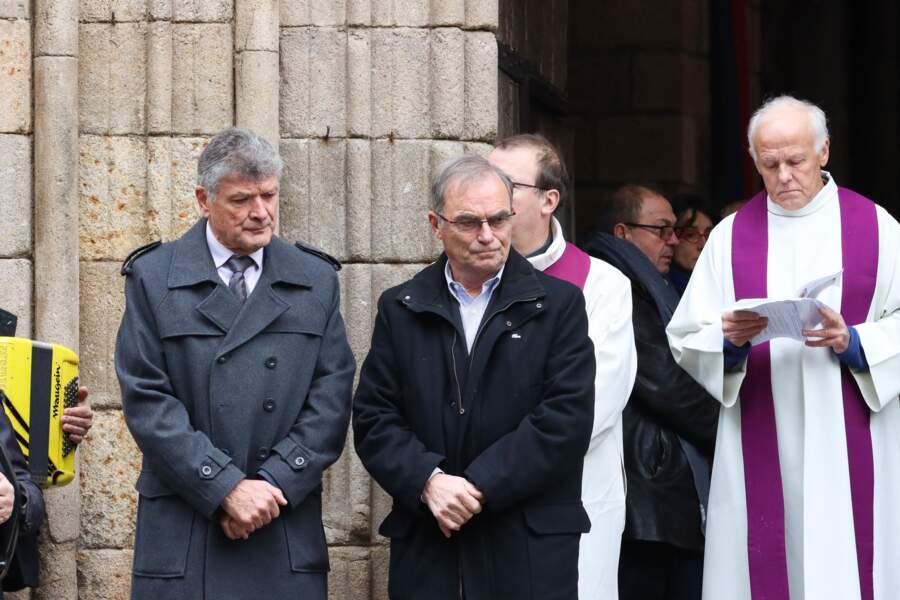 Les anciens champions Bernard Thévenet et Bernard Hinault étaient présents