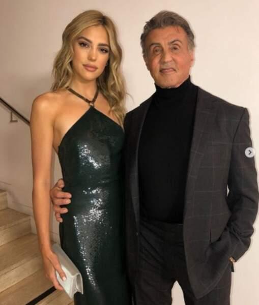 Sylvester Stallone a posé avec sa fille Sistine.