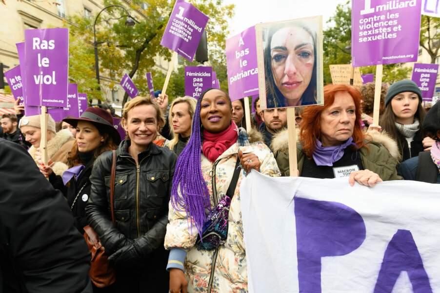 Sandrine Bonnaire et Nadège Beausson-Diagne, tout sourire