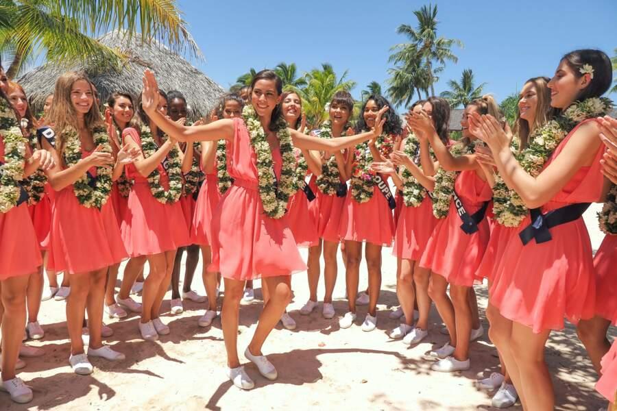 Les 30 candidates à Miss France 2020 se sont retrouvées à Tahiti