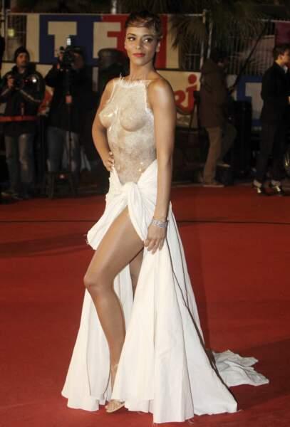 L'arrivée de Shy'm n'est pas passée inaperçu à Cannes en 2012, côté pile ...