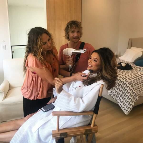 Maquillage et coiffure, Eva Longoria a des complices de longue date