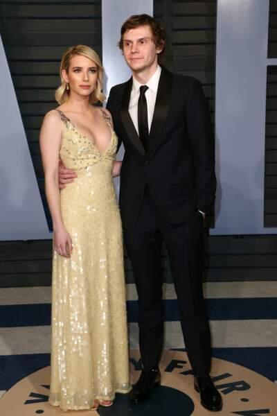 """Même son de cloche pour l'actrice Emma Roberts qui prend l'initiative de rompre ses fiançailles avec son compagnon Evan Peters, acteur de la série """"American Horror Story"""""""