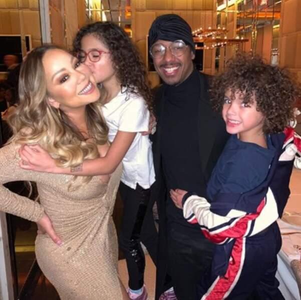 Mariah Carey et son ex-mari Nick Cannon se sont réunis pour fêter Thanksgiving en famille.