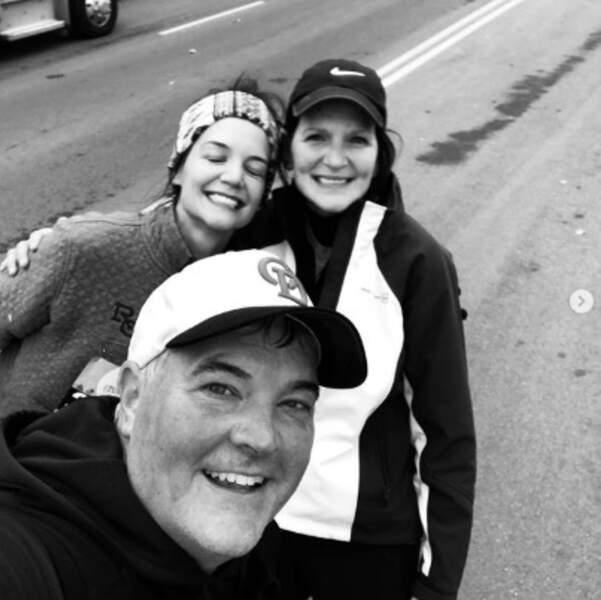 Katie Holmes a fait du running avec une de ses sœurs et son beau-frère.