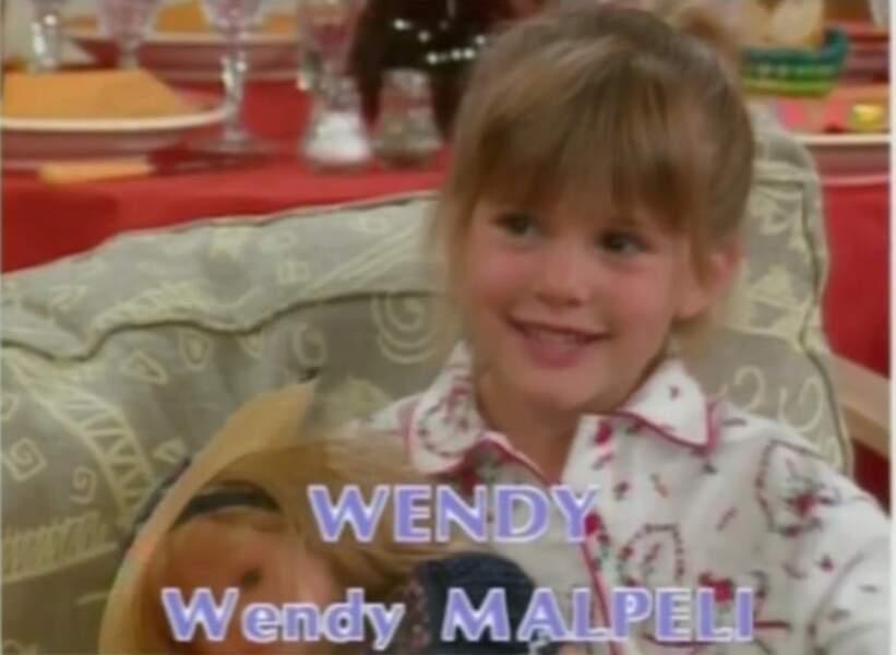 Wendy Malpeli jouait l'adorable Wendy, elle semble avoir tourné la page de la comédie