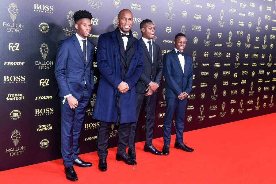 Tout comme Didier Drogba accompagné de ses fils !
