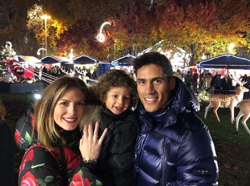 Un peu d'amour : Raphaël Varane et sa petite famille.
