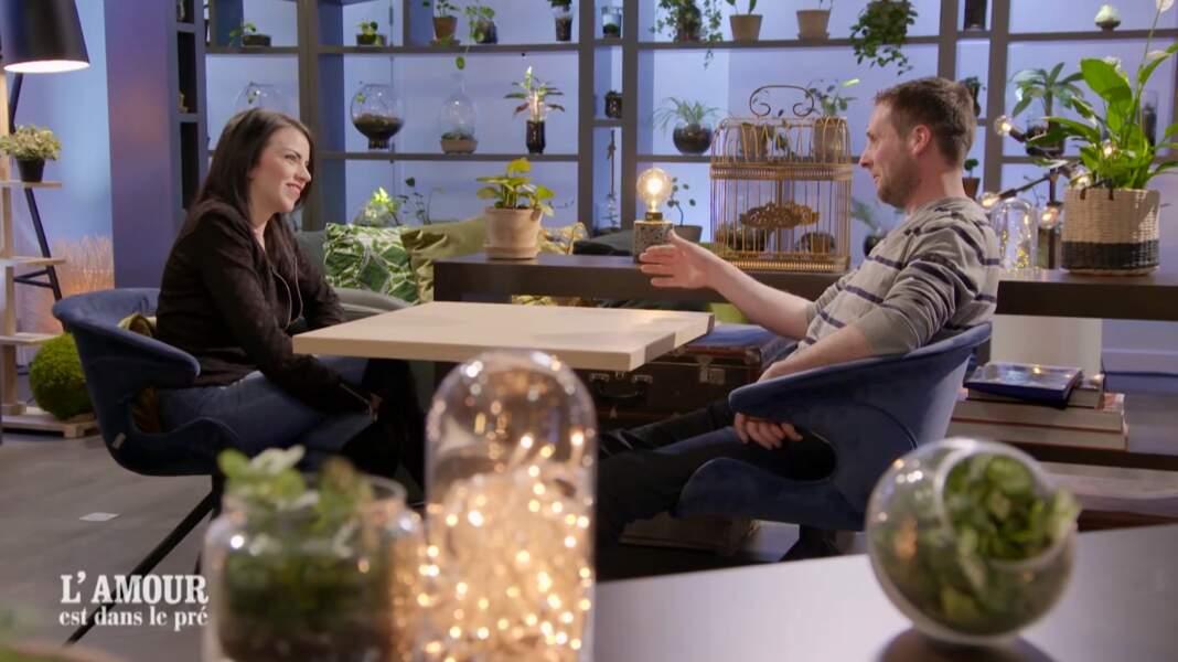 Titillé par la lettre de Nicole, il est tombé sous le charme de la Suissesse lors des speed-datings