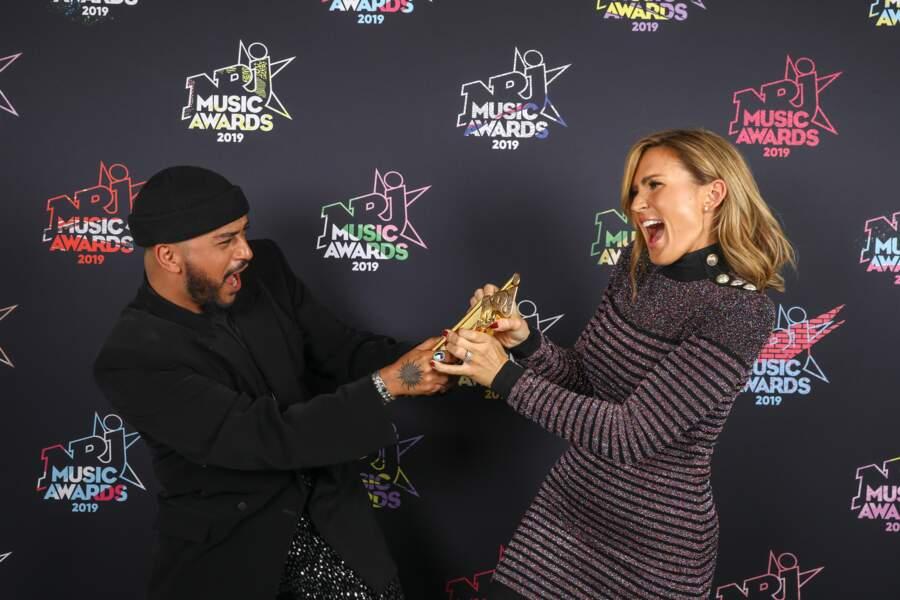 Ça va, ça vient entre Vitaa et Slimane  à la Cérémonie des NRJ Awards