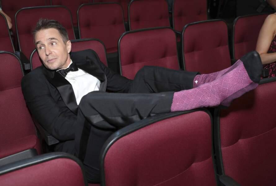 Sam Rockwell voit le vie en rose à la Cérémonie des Emmy Awards