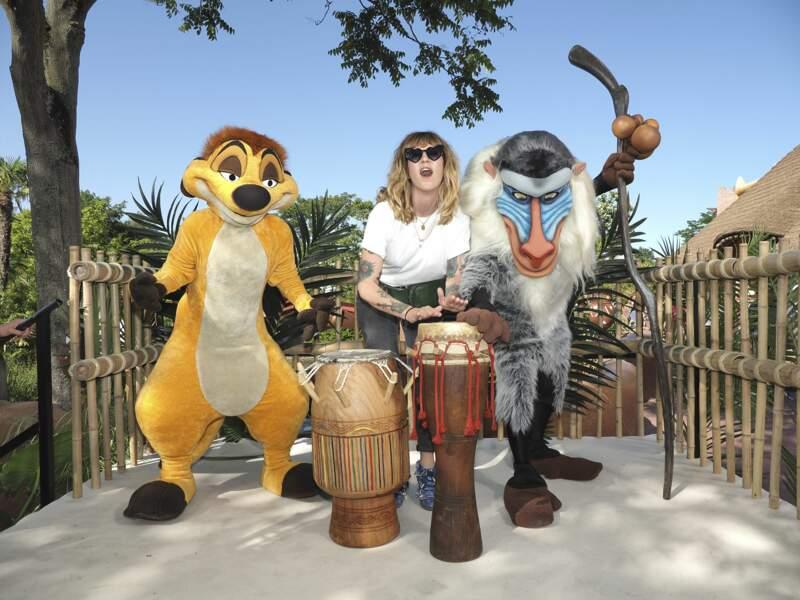 Daphné Bürki et ses nouveaux amis à Disneyland Paris