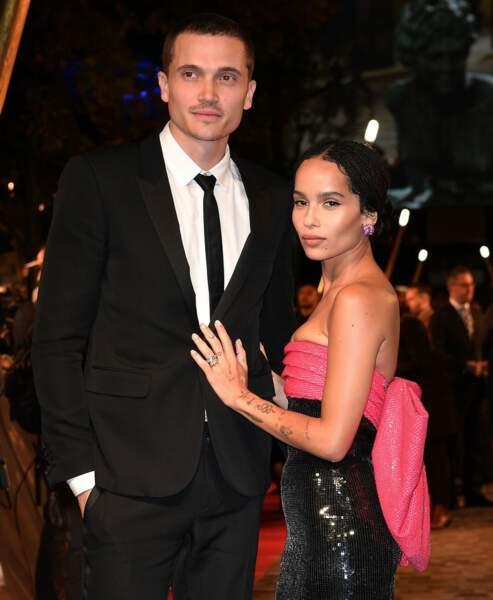 """Zoé Kravitz, la fille de Lenny, s'est mariée avec le comédien Karl Glusman (""""The Neon Demon"""") le 29 juin 2019 à Paris"""