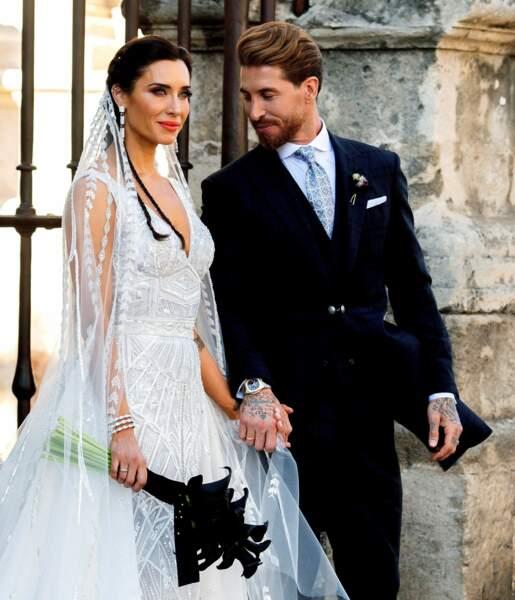Le footballeur espagnol Sergio Ramos, champion du monde en 2010, s'est marié avec la mannequin Pilar Rubio le 15 juin 2019 à Séville