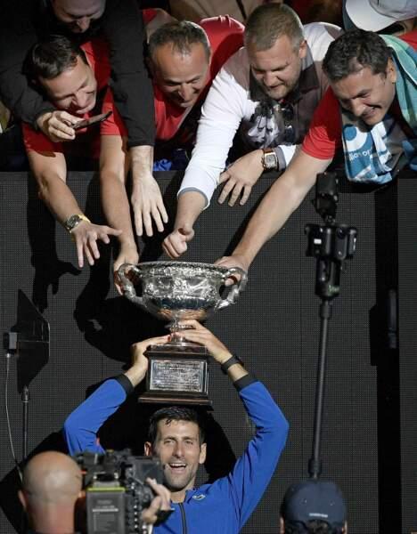 Tous pour un, un pour tous pour Novak et son équipe à l'Open d'Australie