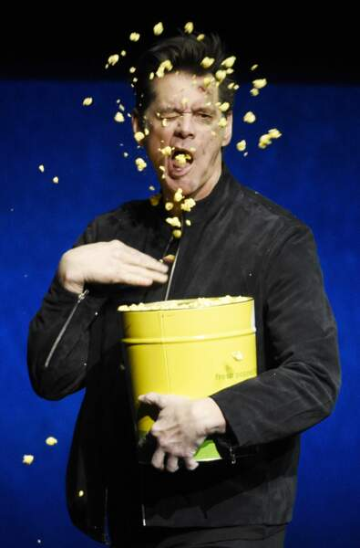C'est l'éclate pour Jim Carrey et ses popcorns