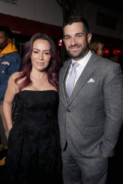 Alyssa Milano et son mari Dave Bugliari